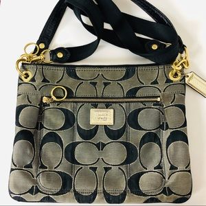 Coach Black/Gold Crossbody Shoulder Bag